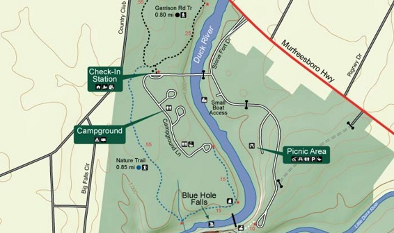 map to old stone fort picnic area