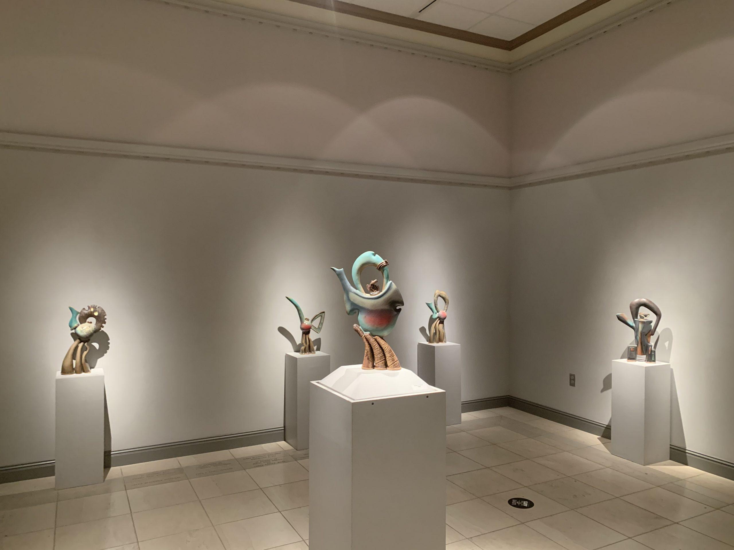Helene Fielder Teapots in TVMA Gallery
