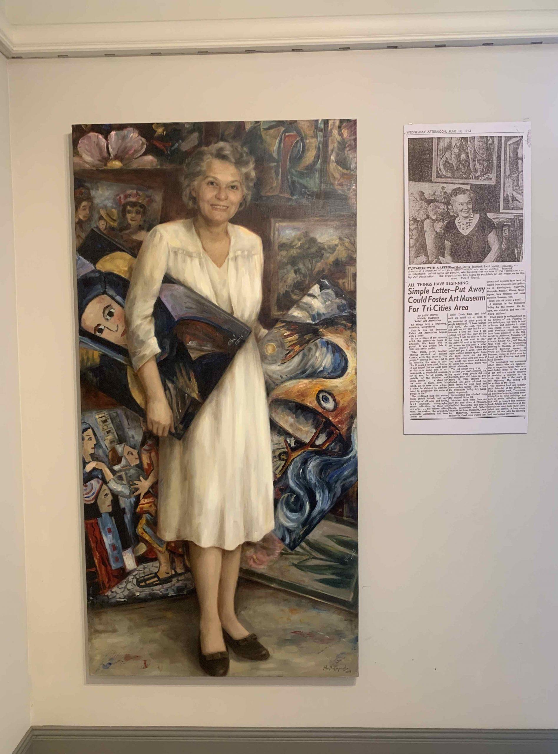 Ethel Davis Portrait by Martha Carpenter