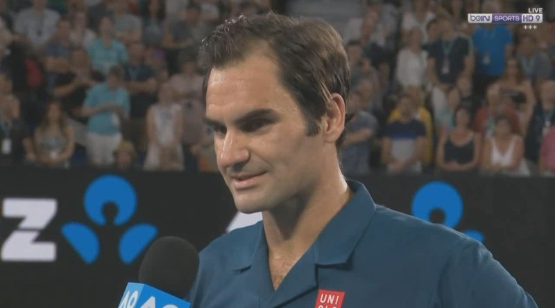 Roger Federer Court Interview with Courier - 3R Match