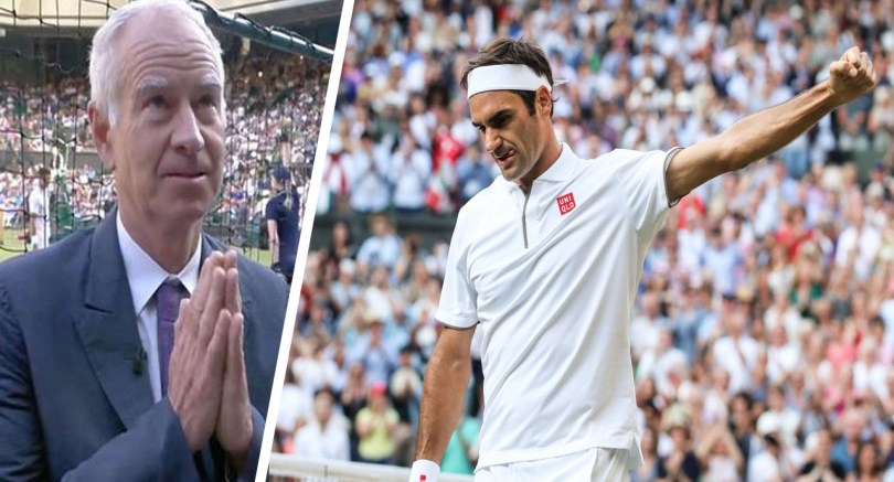 John McEnroe gives verdict on Federer's performance