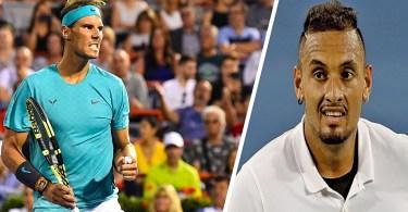 "Kyrgios attacks Nadal ""if Rafa did it, I retire from tennis."""