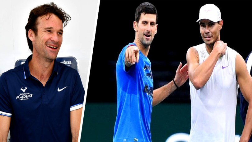 Carlos Moya comments on Nadal and Djokovic training together