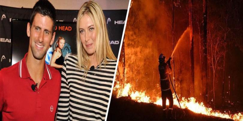 Djokovic accepts Sharapova challenge and donated for Australia Bushfire