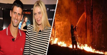 Djokovic accepts Sharapova challenge and donated for Australia Bushfire