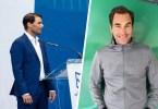 Roger Federer congratulates Rafa Nadal Academy graduates