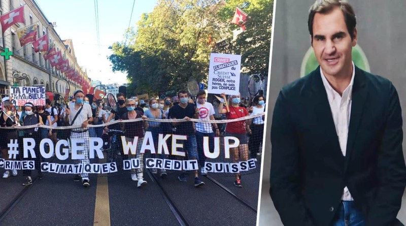 "People attack Roger Federer due to Climate Change ""#RogerWakeUp"""
