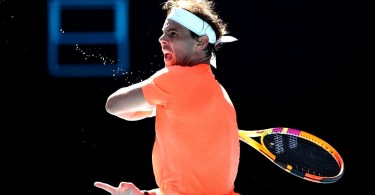 ' Although what happened I'm happy with the win ' Rafael Nadal says after R1
