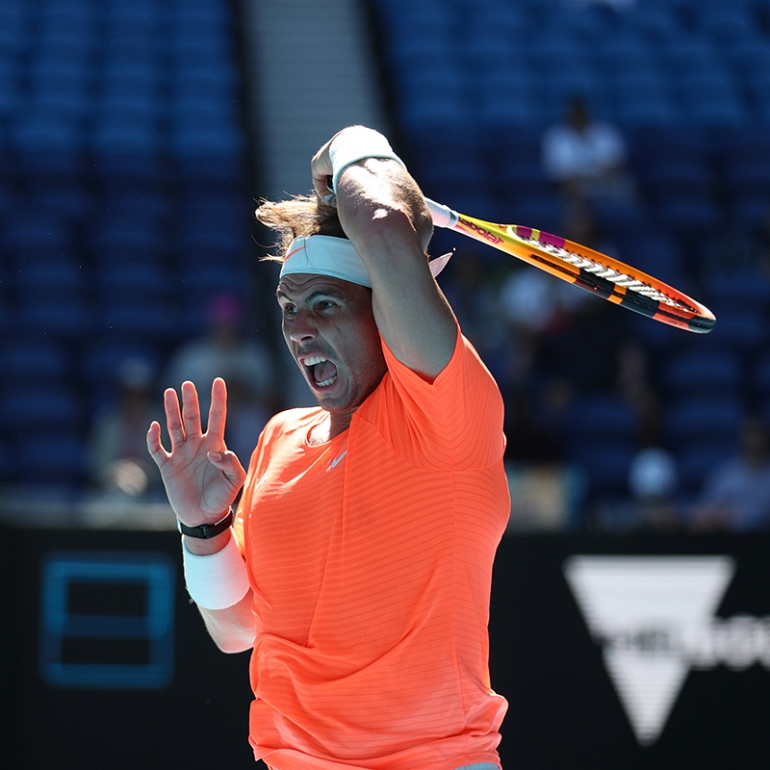 Although what happened I'm happy with the win Rafael Nadal says after R1