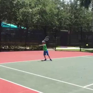 Quentin Gabler (8) playing Tennis