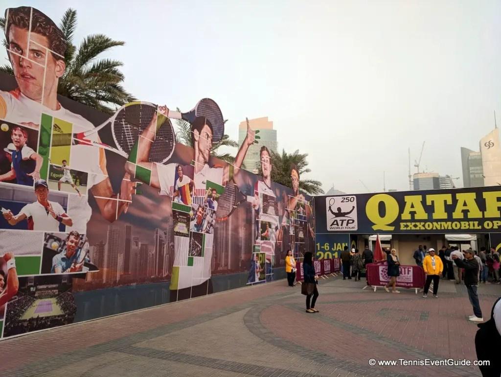 Qatar Tennis Open  Entrance
