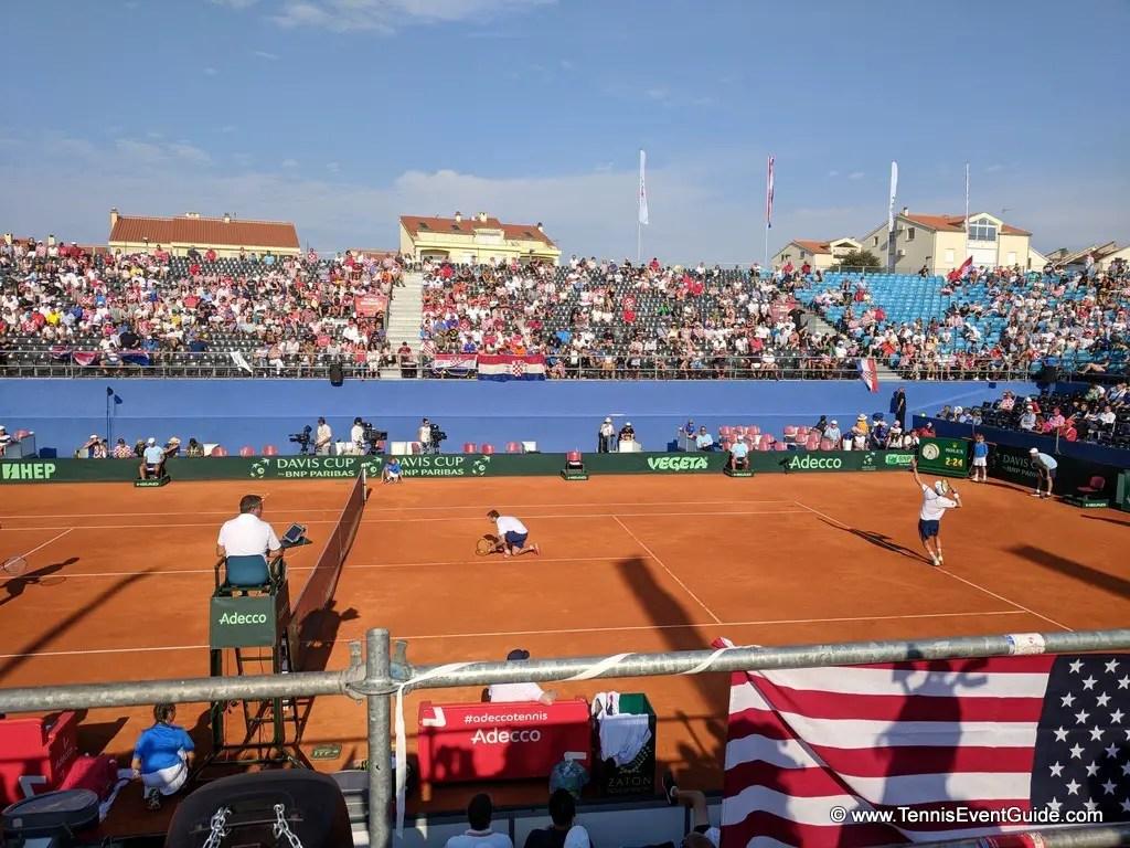 Davis Cup in Zadar at the Sportski Centar Visnjik