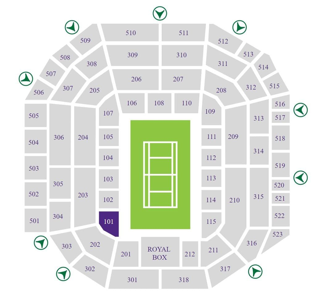 Wimbledon Centre Court Seating Map