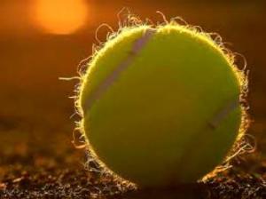 Tennis Ball Clay Court Sunlight