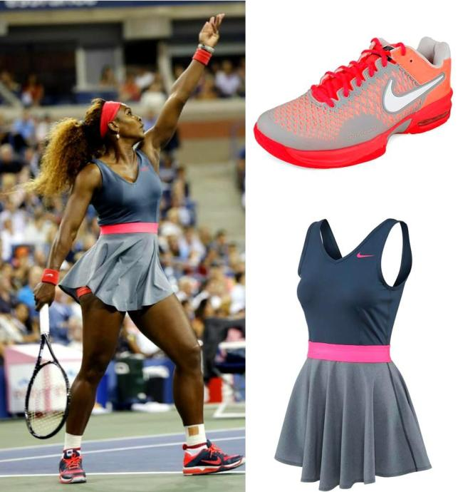 Serena Williams in her 2013 US Open Nike Night Dress
