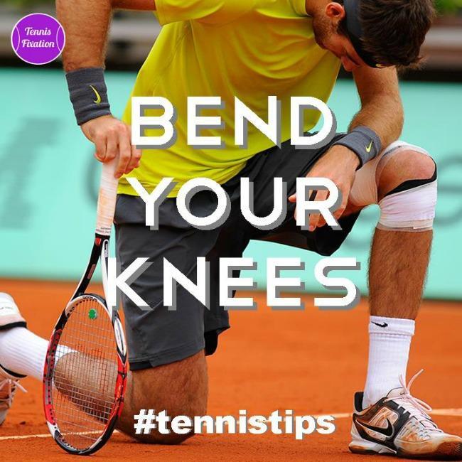 Bend Your Knees - Tennis Tip