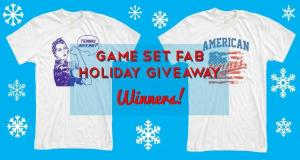 We Have Winners For The Game Set Fab Holiday Tennis T-Shirt Giveaway!