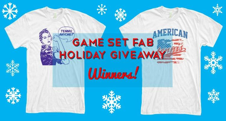 Game Set Fab Holiday Tennis T-Shirt Giveaway - Winners