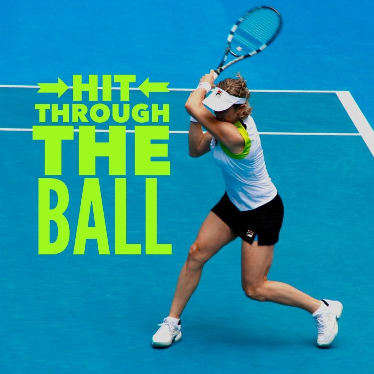Simple Tennis Tip - Hit Through The Ball