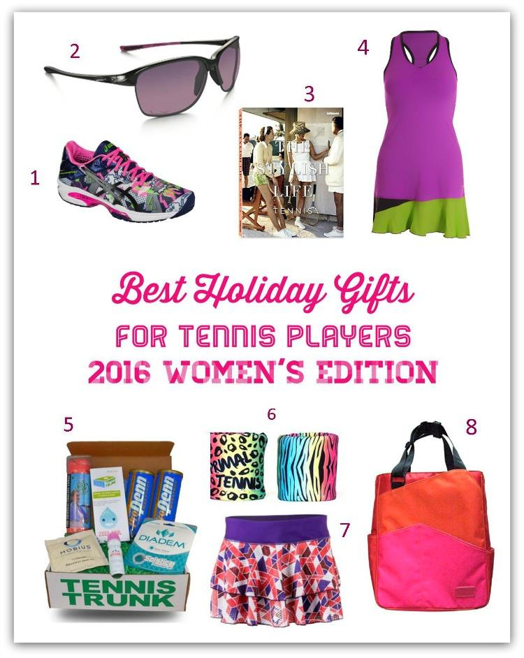 Best Holiday Gifts for Tennis Players - 2016 Women's Edition