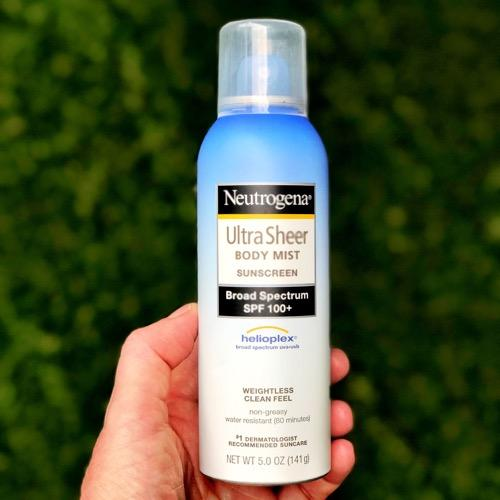 Neutrogena Body Mist Sunscreen - Recommended by Tennis Fixation