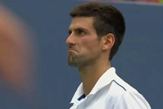 US Open 2011 Djokovic pout semis Fed match point