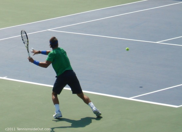Rafael Nadal Cincinnati Open forehand Thursday Verdasco match pictures photos