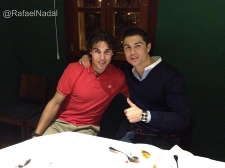 Rafael Nadal dinner with Cristiano Ronaldo 2012