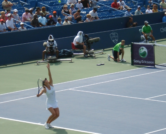 Western and Southern Open 2011 Maria Sharapova service motion ball toss photos