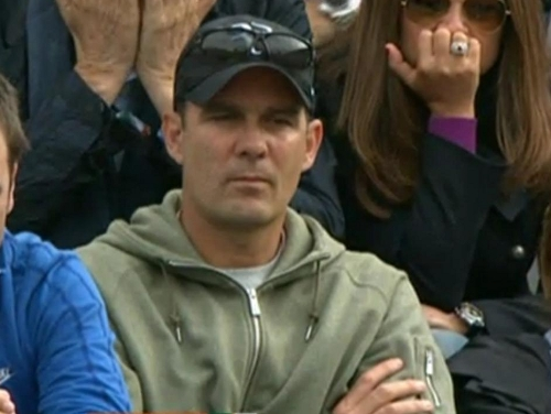 Paul Annacone Federer Goffin match French Open pictures photos RF hat