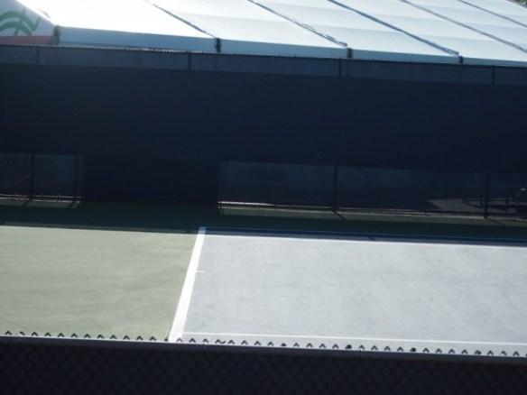 Empty practice court Cincinnati Western and Southern Open