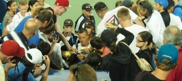 Tomas Berdych signing autographs Cincinnati Open 2012 pictures fans photos images by Valerie David