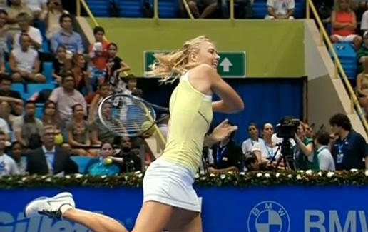 Masha hard hit Brazil Caro match