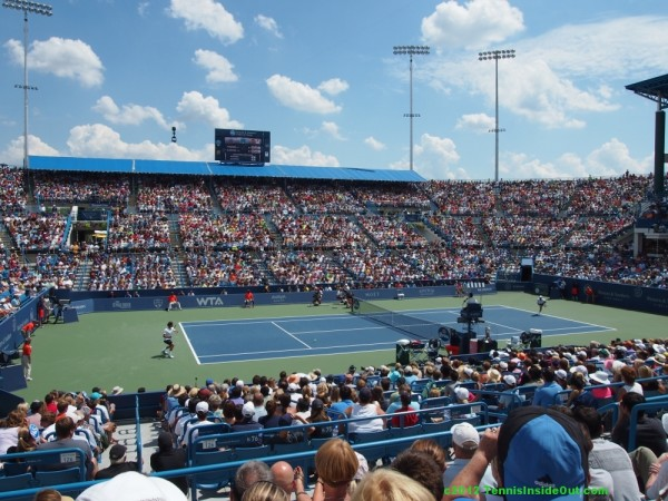 Western and Southern Open Cincinnati Center Court tennis stadium view final Federer Djokovic pictures photos images