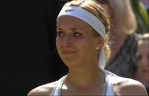 Sabine Lisicki crying tears after loss in Wimbledon final to Bartoli pictures images beautiful