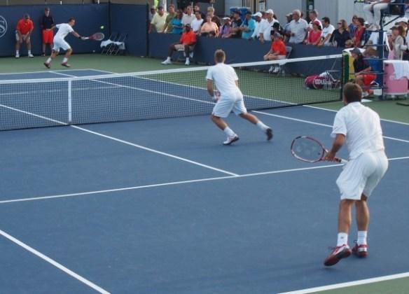 Stan Wawrinka Jarkko Nieminen Philipp Kohlschreiber doubles match Cincy Tennis 2012