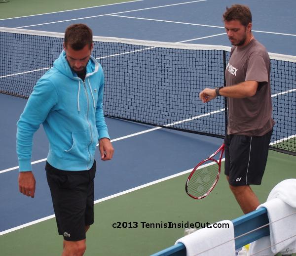 Stanislas Stan Wawrinka Benoit Paire doubles partners singles practice Cincinnati Open 2013 watch pictures photos