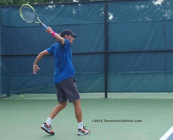 Christian Groh one-handed backhand stretch full extension awkward arm follow through photos Cincy