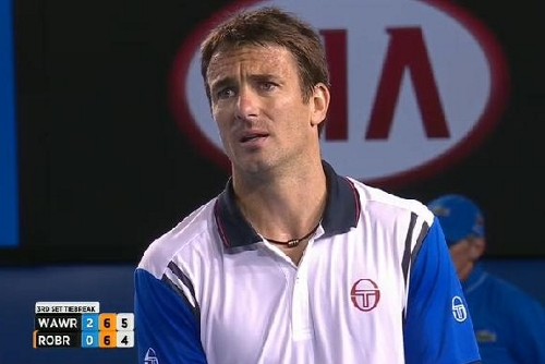 Tommy Robredo anguished eyes upset over line call Wawrinka match