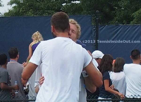 Paire Tursunov kiss snog smooch hug Benoit Dima