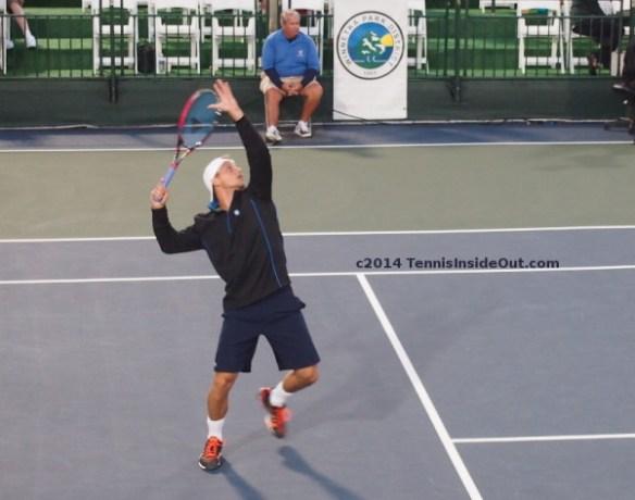 Denis Kudla Winnetka challenger Nielsen Pro Championships 2014 smash photos pics images