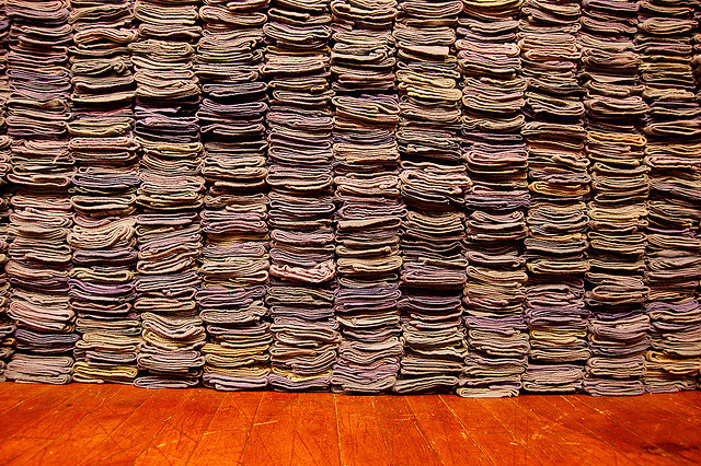 Stacked towels tennis tournament Cincinnati