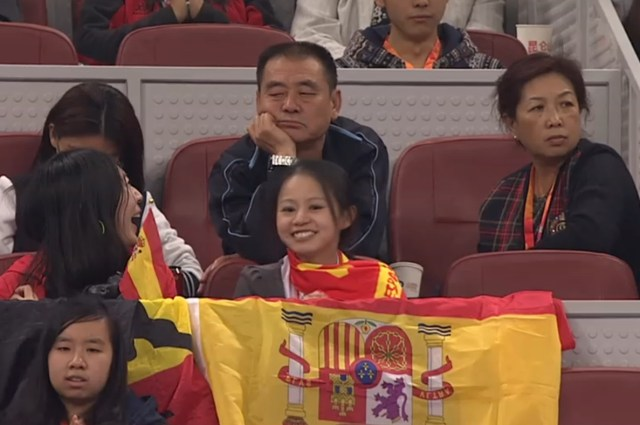 Happy Rafa fans second set grim parents unimpressed Beijing