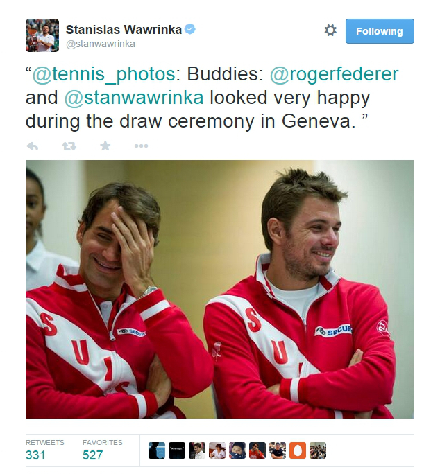Stan makes Rog laugh DC Kazakhstan 2014 quarterfinal draw ceremony