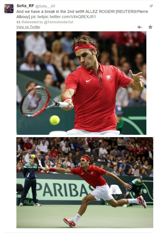 Roger Federer leaping stretching forehand pics photos screencaps images