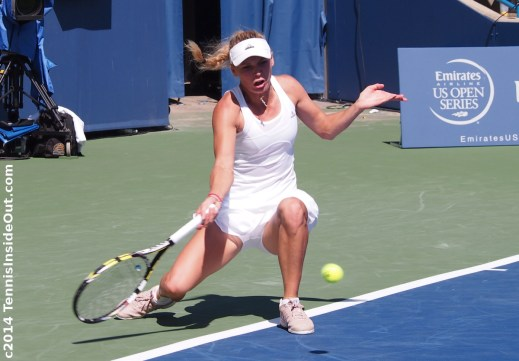 Caroline Wozniacki player profile Caro low forehand tennis pictures photos images screencaps Cincinnati Open 2014