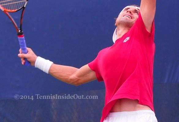 David Ferrer abs tummy big serve Cincinnati