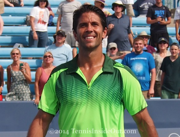 Western and Southern Open grinning Fernando Verdasco smile pics