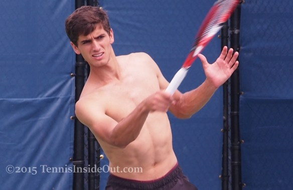 Sexy Cincy pics Pierre-Hugues Herbert forehand shirtless tummy abs pale skin