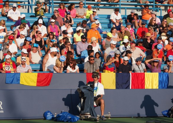 Simona Halep fans Romania Cincinnati Sharapova match 2014
